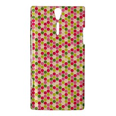 Pink Green Beehive Pattern Sony Xperia S Hardshell Case