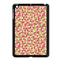 Pink Green Beehive Pattern Apple Ipad Mini Case (black)
