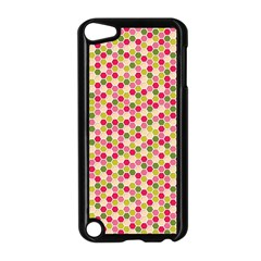 Pink Green Beehive Pattern Apple Ipod Touch 5 Case (black)