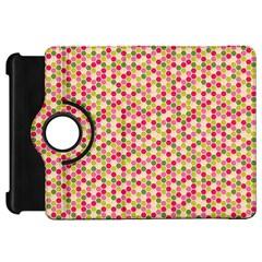 Pink Green Beehive Pattern Kindle Fire HD 7  (1st Gen) Flip 360 Case