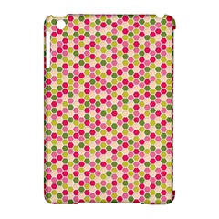 Pink Green Beehive Pattern Apple iPad Mini Hardshell Case (Compatible with Smart Cover)