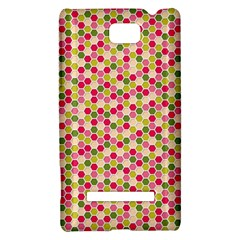 Pink Green Beehive Pattern HTC 8S Hardshell Case