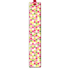 Pink Green Beehive Pattern Large Bookmark