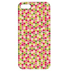 Pink Green Beehive Pattern Apple iPhone 5 Hardshell Case with Stand