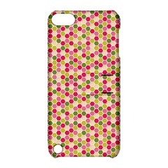 Pink Green Beehive Pattern Apple iPod Touch 5 Hardshell Case with Stand