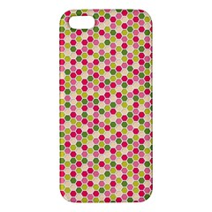 Pink Green Beehive Pattern Apple Iphone 5 Premium Hardshell Case