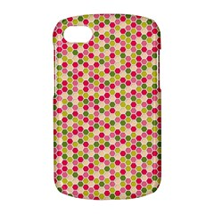 Pink Green Beehive Pattern BlackBerry Q10 Hardshell Case