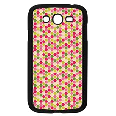 Pink Green Beehive Pattern Samsung Galaxy Grand Duos I9082 Case (black)
