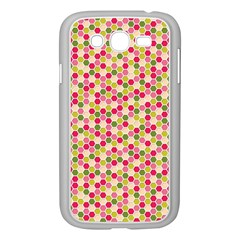 Pink Green Beehive Pattern Samsung Galaxy Grand DUOS I9082 Case (White)