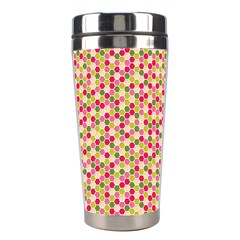 Pink Green Beehive Pattern Stainless Steel Travel Tumbler