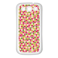Pink Green Beehive Pattern Samsung Galaxy S3 Back Case (White)