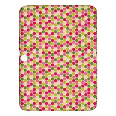 Pink Green Beehive Pattern Samsung Galaxy Tab 3 (10 1 ) P5200 Hardshell Case