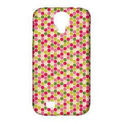 Pink Green Beehive Pattern Samsung Galaxy S4 Classic Hardshell Case (pc+silicone)