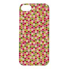 Pink Green Beehive Pattern Apple Iphone 5s Hardshell Case