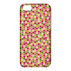 Pink Green Beehive Pattern Apple iPhone 5C Hardshell Case