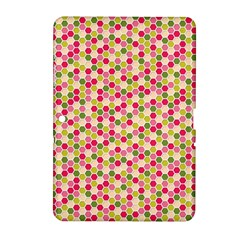 Pink Green Beehive Pattern Samsung Galaxy Tab 2 (10.1 ) P5100 Hardshell Case