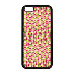 Pink Green Beehive Pattern Apple iPhone 5C Seamless Case (Black)