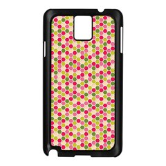 Pink Green Beehive Pattern Samsung Galaxy Note 3 N9005 Case (black)