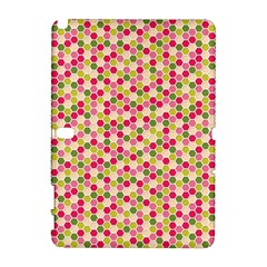 Pink Green Beehive Pattern Samsung Galaxy Note 10.1 (P600) Hardshell Case