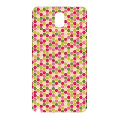 Pink Green Beehive Pattern Samsung Galaxy Note 3 N9005 Hardshell Back Case