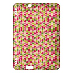 Pink Green Beehive Pattern Kindle Fire HDX 7  Hardshell Case