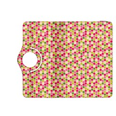 Pink Green Beehive Pattern Kindle Fire HDX 8.9  Flip 360 Case