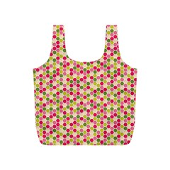 Pink Green Beehive Pattern Reusable Bag (s)