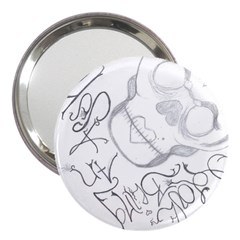 Beautiful Monster 3  Handbag Mirror