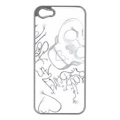 Beautiful Monster Apple iPhone 5 Case (Silver)