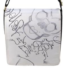 Beautiful Monster Flap Closure Messenger Bag (small)