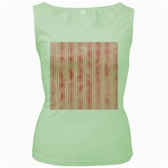 Pink Grunge Women s Tank Top (Green)