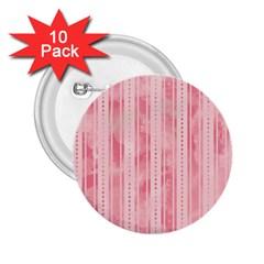 Pink Grunge 2.25  Button (10 pack)