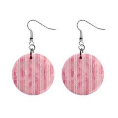 Pink Grunge Mini Button Earrings