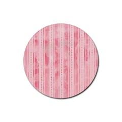Pink Grunge Drink Coaster (Round)