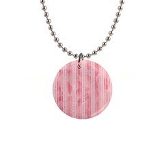 Pink Grunge Button Necklace