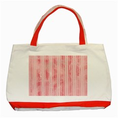 Pink Grunge Classic Tote Bag (Red)