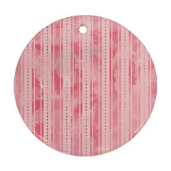 Pink Grunge Round Ornament (Two Sides)