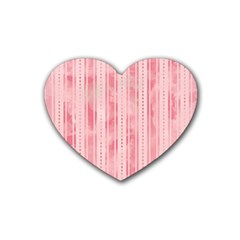 Pink Grunge Drink Coasters (heart)
