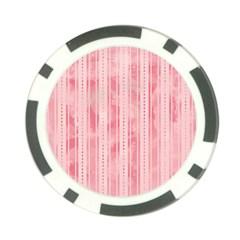 Pink Grunge Poker Chip
