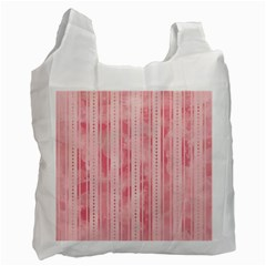 Pink Grunge White Reusable Bag (Two Sides)