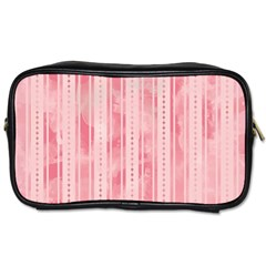 Pink Grunge Travel Toiletry Bag (one Side)