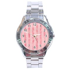 Pink Grunge Stainless Steel Watch