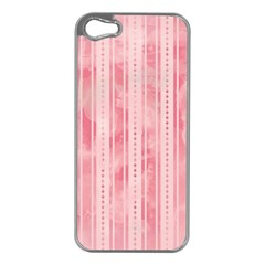Pink Grunge Apple iPhone 5 Case (Silver)