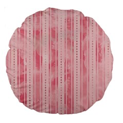 Pink Grunge 18  Premium Round Cushion