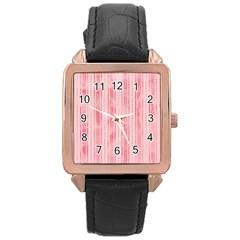 Pink Grunge Rose Gold Leather Watch