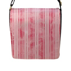 Pink Grunge Flap Closure Messenger Bag (Large)