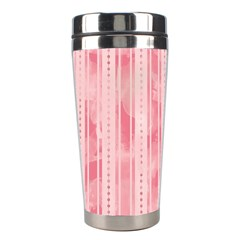 Pink Grunge Stainless Steel Travel Tumbler