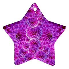 Purple Dahlias Star Ornament