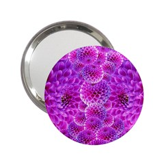Purple Dahlias Handbag Mirror (2.25 )