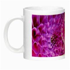 Purple Dahlias Glow in the Dark Mug